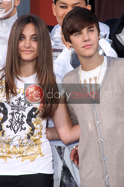 Paris Jackson, Justin Bieber<br /> at Michael Jackson Immortalized at Grauman's Chinese Theatre, Hollywood, CA 01-26-12<br /> David Edwards/DailyCeleb.com 818-249-4998