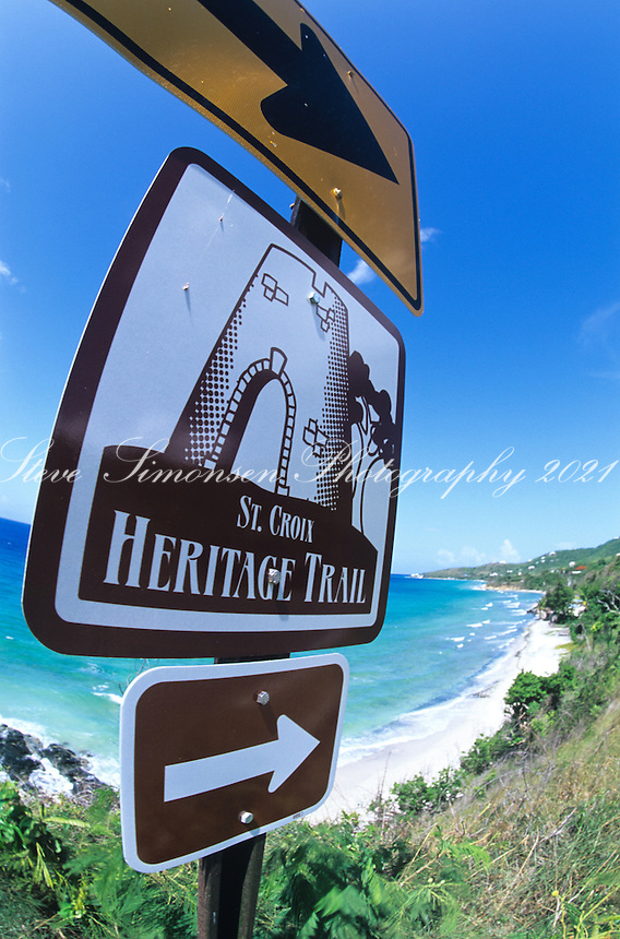 Heritage Trail Sign<br /> St Croix<br /> US Virgin Islands