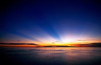 Sunrise over the Amazon River. Peru.