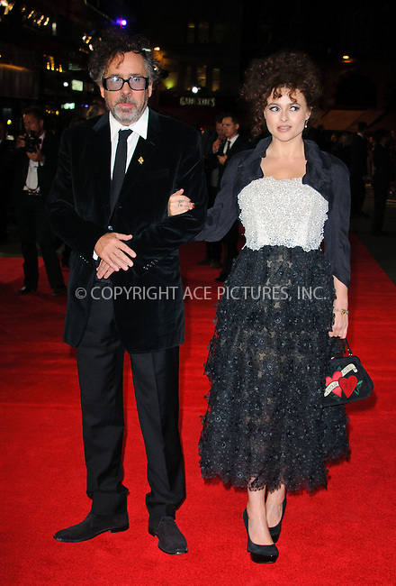 WWW.ACEPIXS.COM....US Sales Only....October 10 2012, London....Tim Burton and Helena Bonham Carter at the premiere of Frankenweenie 56th BFI London Film Festival on October 10 2012 in London ....By Line: Famous/ACE Pictures......ACE Pictures, Inc...tel: 646 769 0430..Email: info@acepixs.com..www.acepixs.com