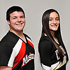 William Gorman of Mount Sinai and Allyson Ottomano of Wantagh pose for a portrait during the Newsday All-Long Island cheerleading photo shoot at company headquarters on Wednesday, Mar. 30, 2016.