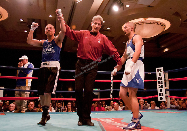 March 24, 2012:   San Jose State's Oscar Gomez won the third place bout over Christian Cruz of UCLA in the NCBA Western Regional Championships held at the Eldorado Hotel & Casino on Saturday night in Reno, Nevada.