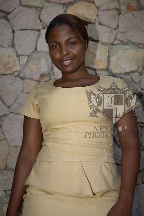 PORT-AU-PRINCE, HAITI - SEPTEMBER 24: Singer Tami poses for portrait during her visit at Radio One station to promote her new album 'Jou M'ap Konte' at Port-au-Prince Haiti on Wednesday September 24, 2014 in port-Au-Prince, Haiti (Photo by Johnny Louis/jlnphotography.com)