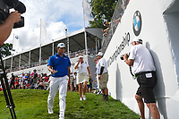 Hideki Matsuyama (JPN) heads for the tee on 18 during Rd4 of the 2019 BMW Championship, Medinah Golf Club, Chicago, Illinois, USA. 8/18/2019.<br /> Picture Ken Murray / Golffile.ie<br /> <br /> All photo usage must carry mandatory copyright credit (© Golffile | Ken Murray)