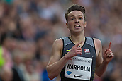 June 15th 2017, Bislett Stadion , Oslo, Norway; Diamond League Oslo Bislett Games;  Karsten Warholm of Norway wins the men's 400m hurdles during the IAAF Diamond League held at the Bislett Stadium