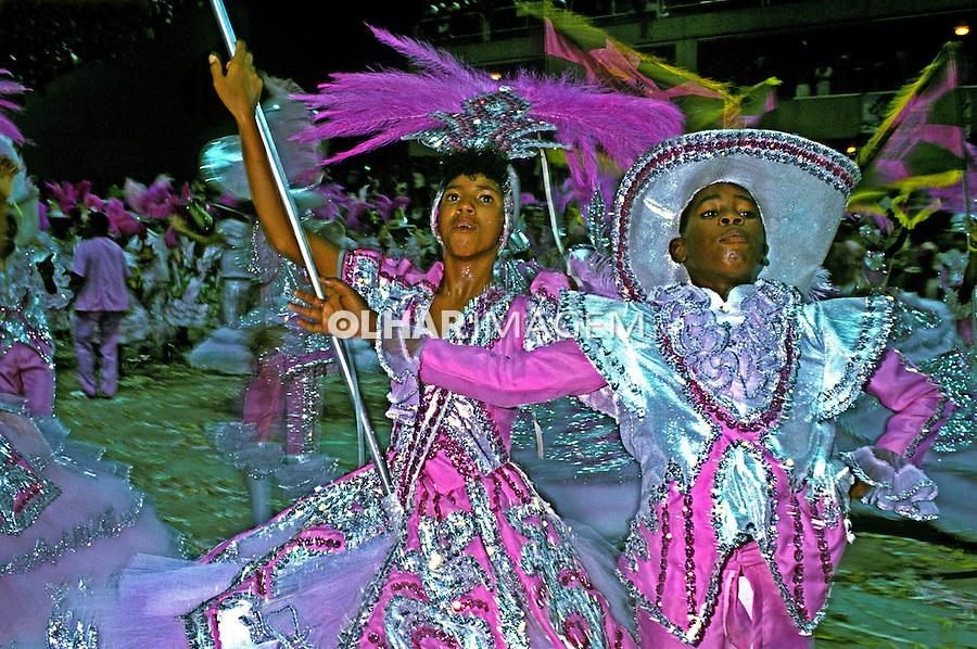 Desfile de carnaval da Mangueira, Rio de Janeiro. 1989. Foto de Juca Martins.