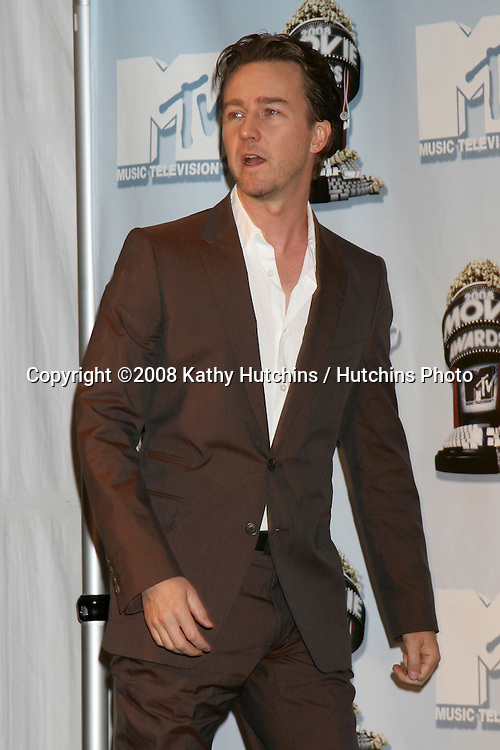 Edward Norton.MTV Movie Awards 2008.Universal City.Los Angeles,  CA.May 31, 2008.©2008 Kathy Hutchins / Hutchins Photo .