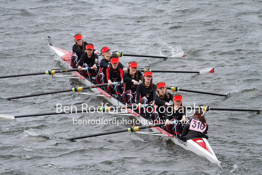 Crew: 316  Lady E Holles  Event: Girls J15 CHAMP eights<br /> <br /> Schools' Head of the River 2017<br /> <br /> To purchase this photo, or to see pricing information for Prints and Downloads, click the blue 'Add to Cart' button at the top-right of the page.
