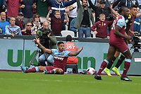 Manuel Lanzini of West Ham United appeals for a penalty  during West Ham United vs Manchester City, Premier League Football at The London Stadium on 10th August 2019