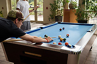 Dawg Days URec - students play pool at Sanderson.<br />  (photo by Megan Bean / &copy; Mississippi State University)