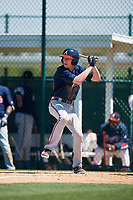 Atlanta Braves Drew Waters (46) during a minor league Spring Training game against the Pittsburgh Pirates on March 13, 2018 at Pirate City in Bradenton, Florida.  (Mike Janes/Four Seam Images)
