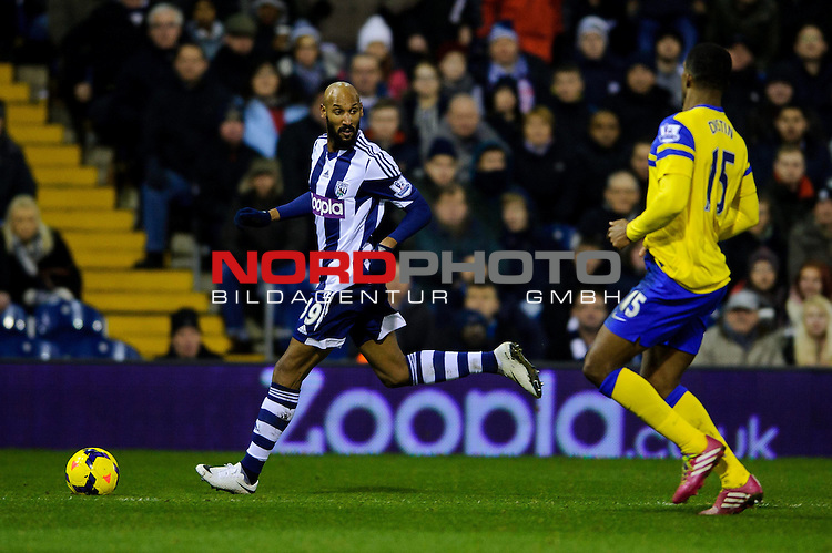 West Brom Forward Nicolas Anelka in action in front of ZOOPLA branding -  - 20/01/2014 - SPORT - FOOTBALL - The Hawthorns Stadium - West Bromwich Albion v Everton - Barclays Premier League.<br /> Foto nph / Meredith<br /> <br /> ***** OUT OF UK *****