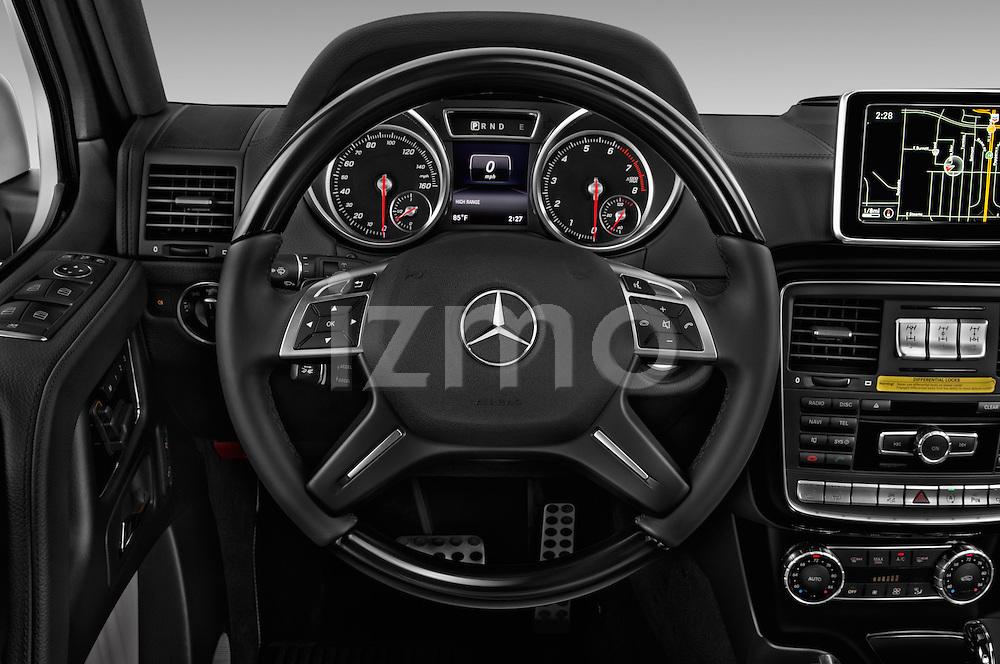 Car pictures of steering wheel view of a 2018 Mercedes Benz G-Class G550 5 Door SUV Steering Wheel