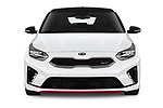 Car photography straight front view of a 2019 KIA Proceed GT 5 Door Wagon Front View