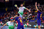 League ASOBAL 2017-2018 - Game: 14.<br /> FC Barcelona Lassa vs Helvetia Anaitasuna: 38-26.<br /> Raul Nantes vs Viran Morros.