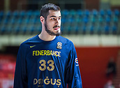 22nd March 2018, Aleksandar Nikolic Hall, Belgrade, Serbia; Turkish Airlines Euroleague Basketball, Crvena Zvezda mts Belgrade versus Fenerbahce Dogus Istanbul; Forward Nikola Kalinic of Fenerbahce Dogus Istanbul warms up before the match