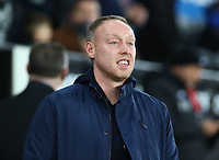 11th February 2020; Liberty Stadium, Swansea, Glamorgan, Wales; English Football League Championship, Swansea City versus Queens Park Rangers; Steve Cooper, Manager of Swansea City watches the warm up before kick off