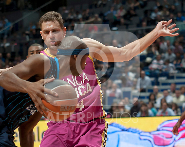 Banca Civica's Pancho Jasen during Liga Endesa ACB match.April 1,2012. (ALTERPHOTOS/Ricky)