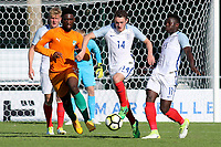 Elliott Embleton of England and Sunderland in possession during England Under-18 vs Ivory Coast Under-20, Toulon Tournament Final Football at Stade de Lattre-de-Tassigny on 10th June 2017