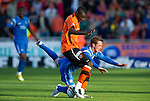 Dundee Utd v St Johnstone...25.09.10  .Prince Buaben and Chris Millar.Picture by Graeme Hart..Copyright Perthshire Picture Agency.Tel: 01738 623350  Mobile: 07990 594431