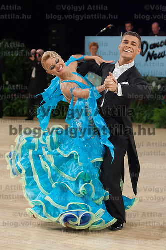 Angelo Madonia & Jelena Samuilova of Latvia perform their dance during the Amateur Rising Star Ballroom competition of the UK Open dance competition at the International Centre in  Bournemouth, United Kingdom on Tuesday, 22. January 2008. ATTILA VOLGYI