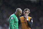 Dejection for Wolves goalkeeper Carl Ikeme and defender Richard Stearman Football - Sky Bet Championship - Derby County vs Wolverhampton Wanderers - iPro Stadium Derby - Season 2014/15 - 8th November 2014 - Photo Malcolm Couzens/Sportimage