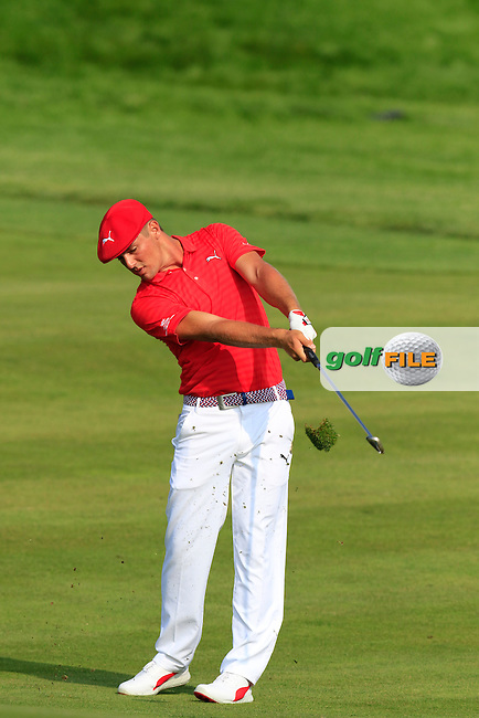 Bryson DeChambeau (USA) plays his 2nd shot on the 10th hole during Thursday's Round 1 of the 2016 U.S. Open Championship held at Oakmont Country Club, Oakmont, Pittsburgh, Pennsylvania, United States of America. 16th June 2016.<br /> Picture: Eoin Clarke   Golffile<br /> <br /> <br /> All photos usage must carry mandatory copyright credit (&copy; Golffile   Eoin Clarke)