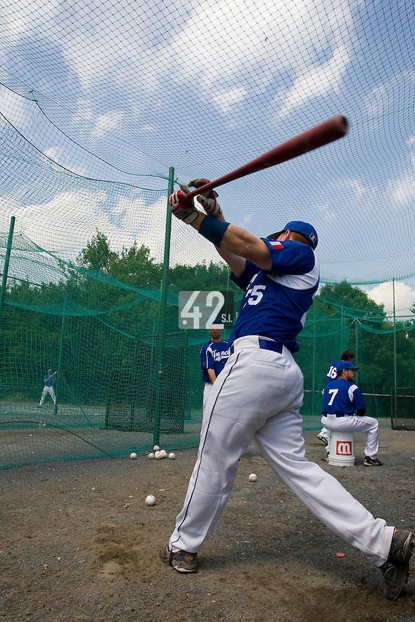 BASEBALL - GREEN ROLLER PARK - PRAGUE (CZECH REPUBLIC) - 24/06/2008 - PHOTO: CHRISTOPHE ELISE.DAVID GAUTHIER (TEAM FRANCE)