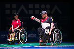 Bastian Keller (GER)<br /> BC4 Bronze Medal Match<br /> Germany v Hong Kong<br /> BISFed 2018 World Boccia Championships <br /> Exhibition Centre Liverpool<br /> 18.08.18<br /> ©Steve Pope<br /> Sportingwales