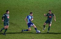Luke O'Nien of Wycombe Wanderers beats Ryan Brunt of Plymouth Argyle to the ball during the Sky Bet League 2 match between Wycombe Wanderers and Plymouth Argyle at Adams Park, High Wycombe, England on 14 March 2017. Photo by Andy Rowland / PRiME Media Images.