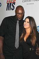 Lamar Odom and Khloe Kardashian at the 19th Annual Race To Erase MS - 'Glam Rock To Erase MS' event at the Hyatt Regency Century Plaza on May 18, 2012 in Century City, California. © mpi25/MediaPunch Inc.