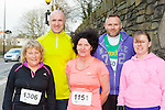 Chris O'Sullivan, Bill Horgan, Sheila Lyons, Maurice O'Connor all Castleisland and Eileen O'Connor Knocknagoshel in participated the Killarney Good Friday 5 Miler
