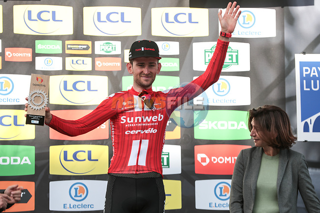 Tiesj Benoot (BEL) Team Sunweb wins Stage 6 of the 78th edition of Paris-Nice 2020, running 161.5km from Sorgues to Apt, France. 13th March 2020.<br /> Picture: ASO/Fabien Boukla | Cyclefile<br /> All photos usage must carry mandatory copyright credit (© Cyclefile | ASO/Fabien Boukla)
