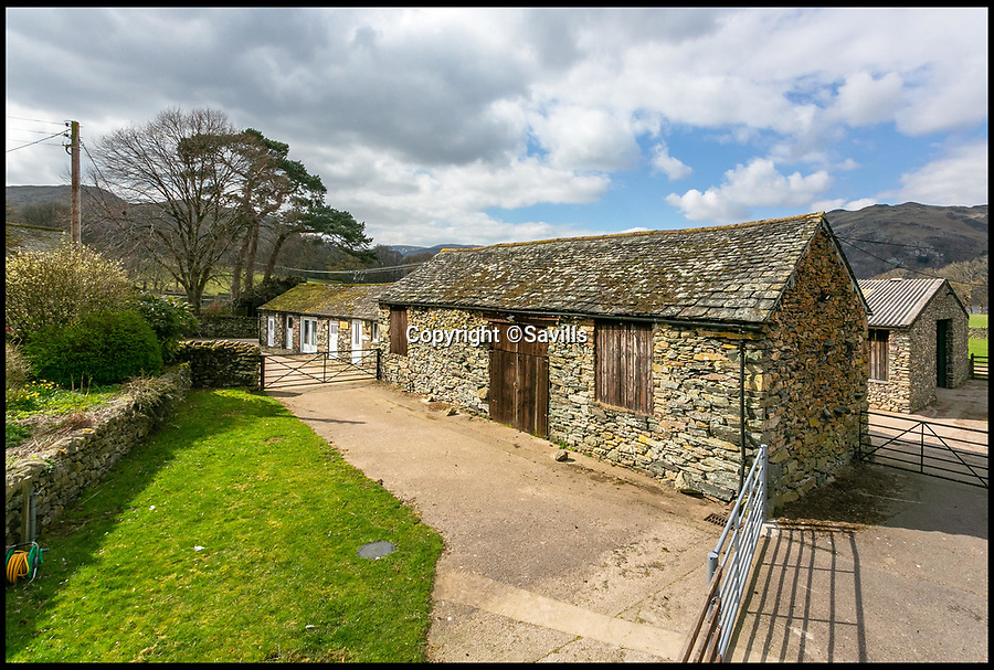 BNPS.co.uk (01202)558833<br /> Pic:    Savills/BNPS<br /> <br /> Traditional farm buildings.<br /> <br /> A country estate that has its own farm, tea rooms and glamping business in the heart of the Lake District has gone on market for those looking to escape the rat race.<br /> <br /> Backside Farm sits on the banks of Ullswater - the second largest lake in the Cumbrian National Park - and has one mile of water access as well as stunning views of the mountains. <br /> <br /> The outgoing owners have been on the 195 acre estate for over a decade and in that time they have renovated the large five bedroom farmhouse.<br /> <br /> They also set up the tea rooms and two holiday rental cabins and have established them as a business.