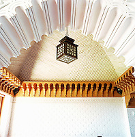 The riad incorporates a variety of materials and textures into its design