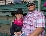 Four-year-old Nolan and David during the Reno Rodeo Nevada Pink Night on Friday, June 28, 2019.