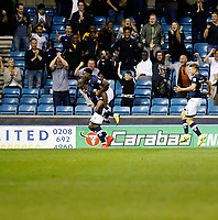 GOAL - Millwall's Tom Elliott celebrates the leveller during the Sky Bet Championship match between Millwall and Ipswich Town at The Den, London, England on 15 August 2017. Photo by Carlton Myrie.