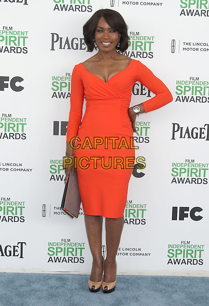 1 March 2014 - Santa Monica, California - Angela Bassett. 2014 Film Independent Spirit Awards held at Santa Monica Beach. <br /> CAP/ADM/RE<br /> &copy;Russ Elliot/AdMedia/Capital Pictures
