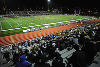 The Castro Valley High School Athletic Stadium near the end of the FC Gold Pride v Sky Blue FC match.  FC Gold Pride defeated Sky Blue FC 3-1 at Castro Valley HS Athletic Stadium in Castro Valley, California on April 17, 2010.