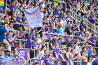 Orlando, FL - Saturday April 22, 2017: Orlando Pride Fans during a regular season National Women's Soccer League (NWSL) match between the Orlando Pride and the Washington Spirit at Orlando City Stadium.