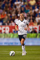 United States (USA) midfielder Lauren Cheney (12). The women's national team of the United States defeated the Korea Republic 5-0 during an international friendly at Red Bull Arena in Harrison, NJ, on June 20, 2013.