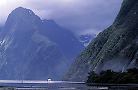 New Zealand,  December 1994  ..New Zealand Milford sound..Photo Kees Metselaar