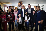 Palestinian Prime Minister Mohammad Ishtayeh, meets with children with cancer and cerebral palsy from the Gaza Strip, in the West Bank city of Ramallah, on January 14, 2020. Photo by Prime Minister Office