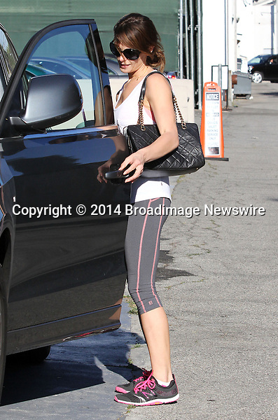 Pictured: Ashley Greene<br /> Mandatory Credit &copy; Patron/Broadimage<br /> Ashley Greene leaving the gym in West Hollywood<br /> <br /> 4/9/14, West Hollywood, California, United States of America<br /> <br /> Broadimage Newswire<br /> Los Angeles 1+  (310) 301-1027<br /> New York      1+  (646) 827-9134<br /> sales@broadimage.com<br /> http://www.broadimage.com