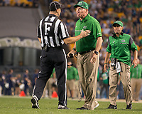 Marshall head football coach Doc Holliday. The Pitt Panthers defeated the Marshall Thundering Herd 43-27 on October 1, 2016 at Heinz Field in Pittsburgh, Pennsylvania.