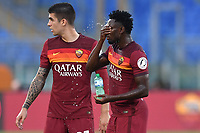 Amadou Diawara and Gianluca Mancini of Roma<br /> during the Serie A football match between AS Roma and ACF Fiorentina at stadio Olimpico in Roma (Italy), July 26th, 2020. Play resumes behind closed doors following the outbreak of the coronavirus disease. <br /> Photo Antonietta Baldassarre / Insidefoto