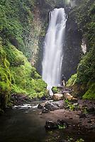 Peguche Waterfall (Cascadas de Peguche), Otavalo, Imbabura Province, Ecuador