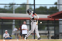 Michael Machin (57) of Monsignor Edward Pace High School in Miami Lakes, Florida during the Under Armour Baseball Factory National Showcase, Florida, presented by Baseball Factory on June 12, 2018 the Joe DiMaggio Sports Complex in Clearwater, Florida.  (Nathan Ray/Four Seam Images)