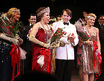 Estelle Parsons, Judy Kaye, Matthew Broderick, Kelli O'Hara.during the Broadway Opening Night Curtain Call for  'Nice Work If You Can Get It' at the ImperialTheatre on 4/24/2012 in New York City.