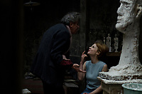 FINAL PORTRAIT (2017)<br /> GEOFFREY RUSH, CLEMENCE POESY<br /> *Filmstill - Editorial Use Only*<br /> CAP/FB<br /> Image supplied by Capital Pictures